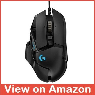 Best DPI High Performance Gaming Mouse - Logitech G502 HERO