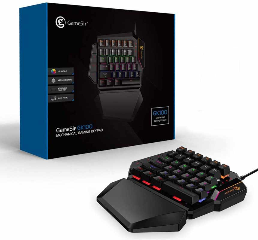 GameSir GK100 One Handed Gaming Keyboard